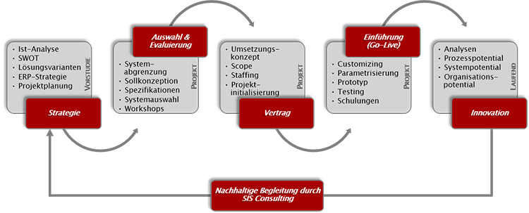 SIS Consulting | ERP Auswahl & Evaluierung & Implementierungsberatung